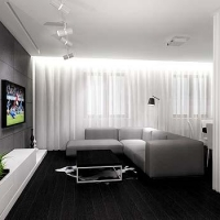 salon projekt apartamentu- wiślane tarasy
