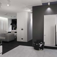 salon projekt apartamentu - wiślane tarasy